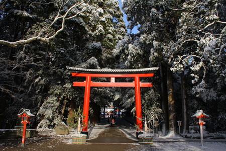 冬の霧島神宮・三の鳥居