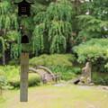 写真: 庭園を眺めて