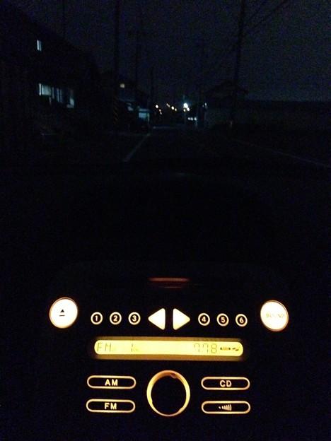 夜のドライブ