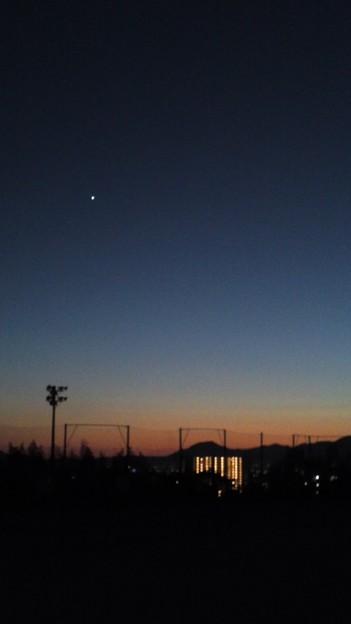 今日も金星明るいなぁ。