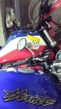 親父のバイクとw  あと1月ヶ月でこのツーショットが撮れなくなるのかぁ...