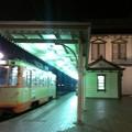 写真: ぶれた けど道後温泉駅