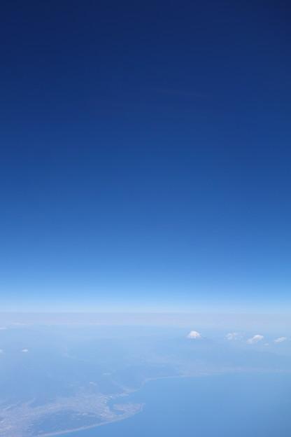 機中から見た富士山