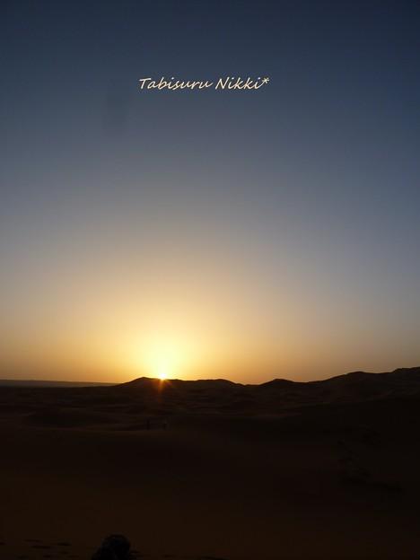 サハラの日の出