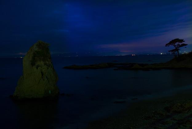 夜の立石海岸