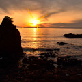 立石海岸夕景