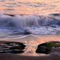 夕映えの浜