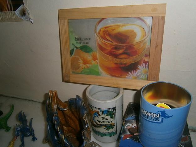 写真: tea product bag from chinese shop.