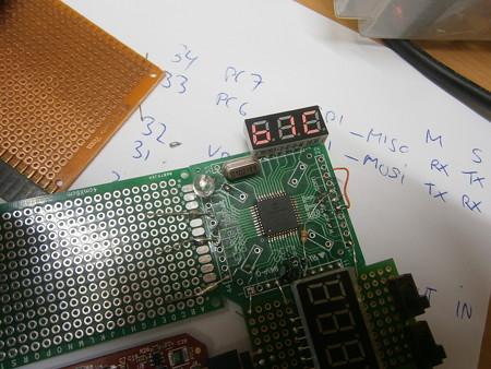 PIC 16f884 LED display