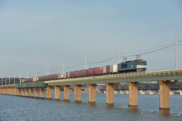 EF641049(広島更新色)牽引鹿島貨物70列車@北浦