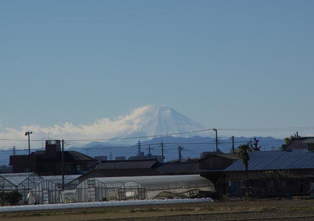 川越工業団地から見える富士山