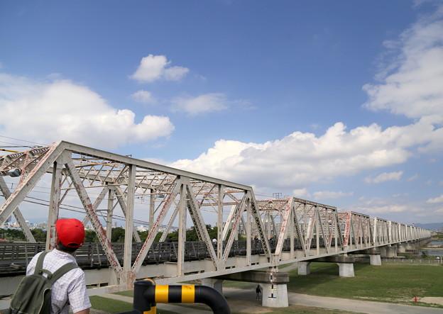 撮り鉄さんと赤川橋梁
