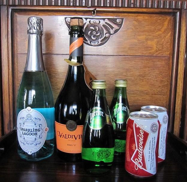 ワイン&ビール&炭酸水