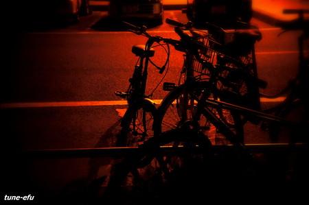 夜の町にいた