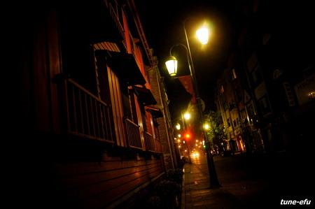 夜の大浦海岸通り