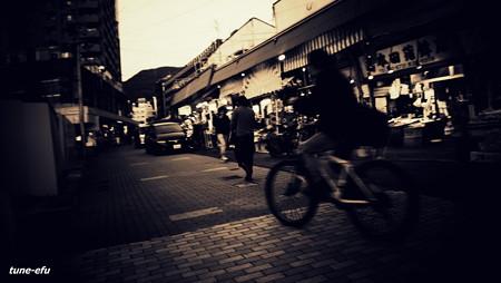 市場の夕暮