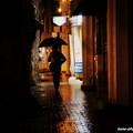 写真: 熊本は雨