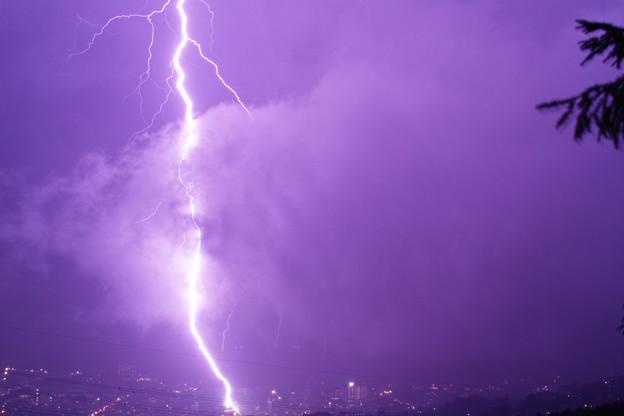 大会中止後に撮れた紫電。