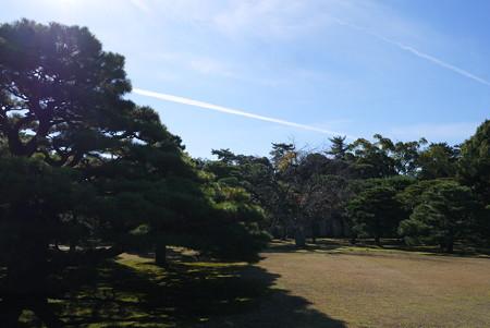 飛行機雲と出会う