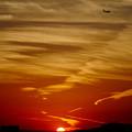 写真: 夕焼けプロップ
