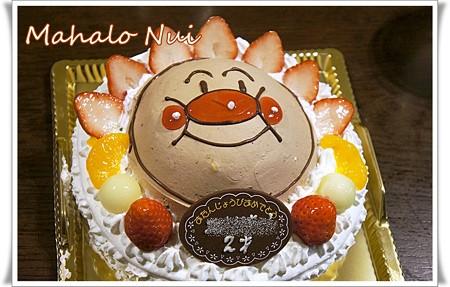 アンパンマンのお誕生日ケーキ