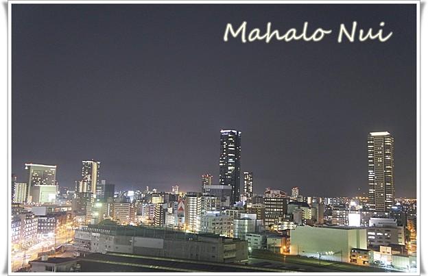 写真: グランフロント大阪南館からの夜景