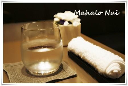 お水のグラスもオシャレ