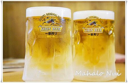 キンキンに冷えたビールで乾杯