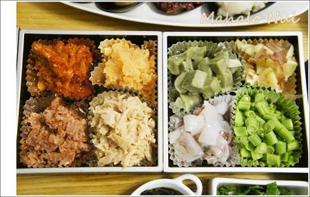 たこ焼き具材2チャンジャ・明太子・コンビーフ・よもぎ麩・茗荷・イカ・いんげん豆