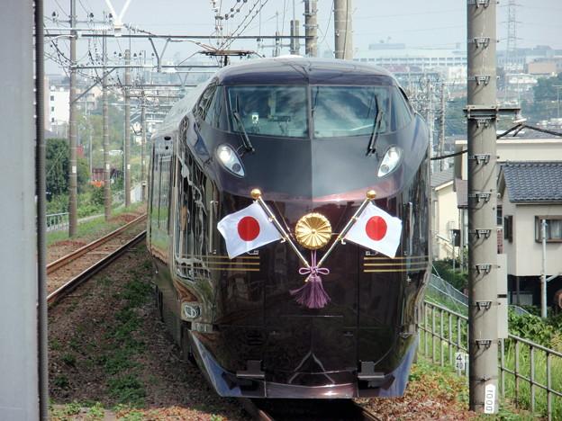 E655系お召し列車 日野駅