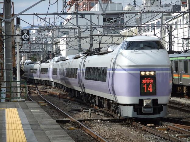 Photos: スーパーあずさE351系 S21+S1編成