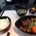 Photos: デルタ航空ビジネスクラス和食メイン