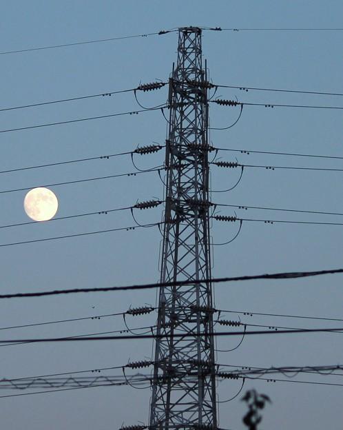 夕景・・秋のお月見・・小望月  3  09:18