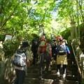 三滝寺の階段を上り