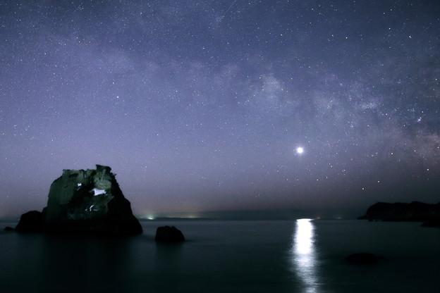 Photos: 薄明に銀河同化して