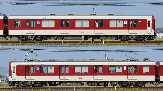 近鉄1430系1433F(VW33)山側側面 2013.11.16