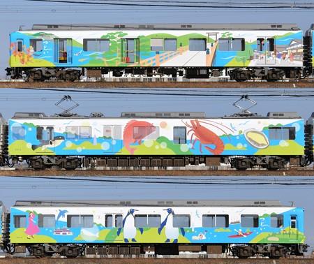 近鉄2013系2014F(XT07?)海側側面 2014.01.03