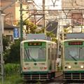 写真: 都電荒川線7001号車&7026号車