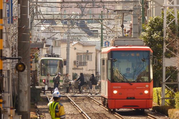 新庚申塚電停から…2014.2.7