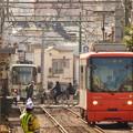 写真: 新庚申塚電停から…2014.2.7