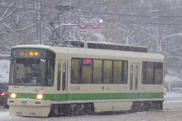 大雪の中を走る?