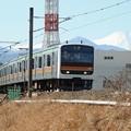 写真: 富士が見える沿線0