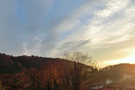 早朝の東の空