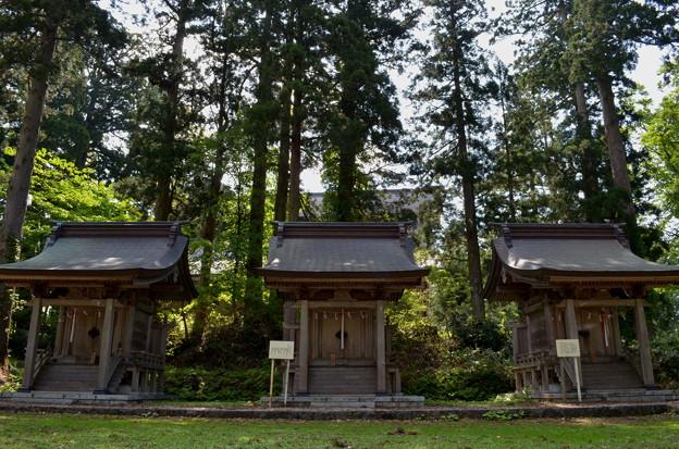 写真: 出羽神社 白山神社・思兼神社・八坂神社
