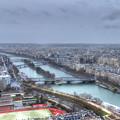 エッフェル塔の展望台よりセーヌ川の眺め
