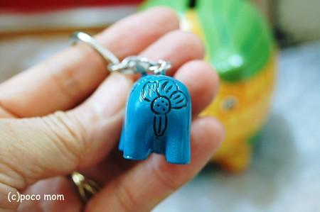 青カバキーホルダー33