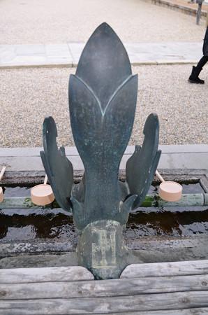 法隆寺手水舎2014年02月10日_DSC_0351
