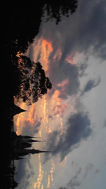 写真: シンデレラ城のシルエット
