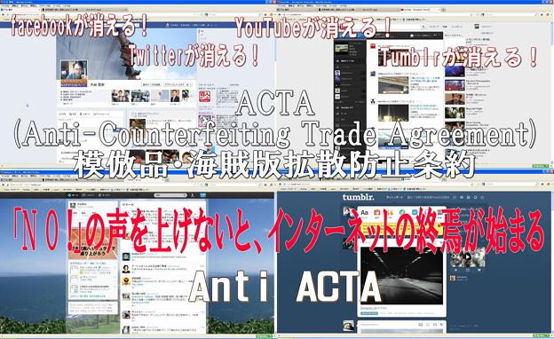 写真: Anti ACTA!