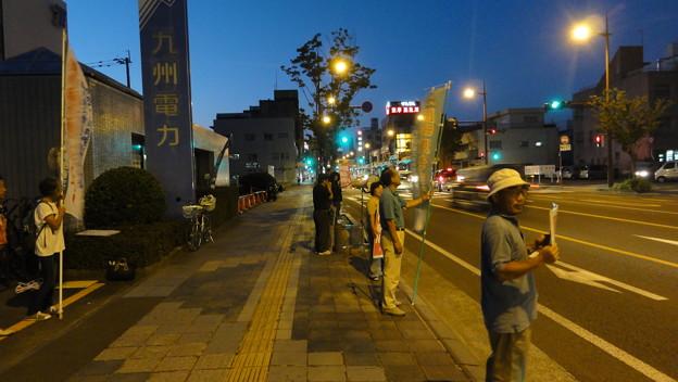 川内原発12時間30分連続抗議行動~九州電力川内営業所前金曜行動~8